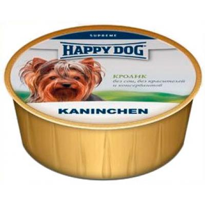 Нежный паштет Happy dog NaturLine для собак, Кроликом