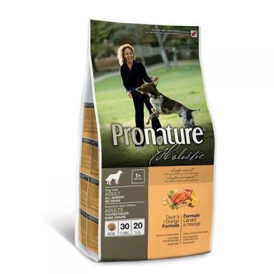 Pronature Holistic Adult All Breeds беззерновой Сухой корм для собак (утка с апельсином)