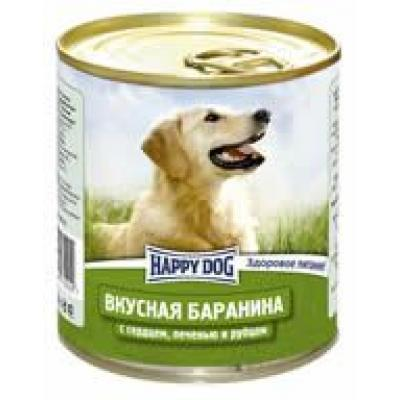 Консервы Happy Dog для собак -Баранина, сердце, печень и рубец